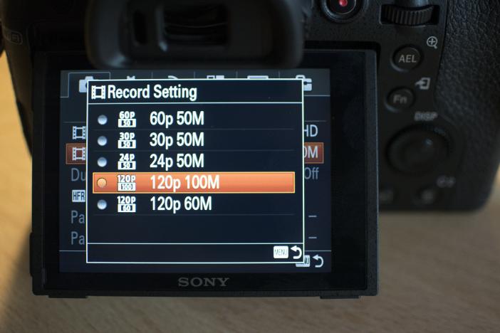 RX10 M2 1080p 120fps menu