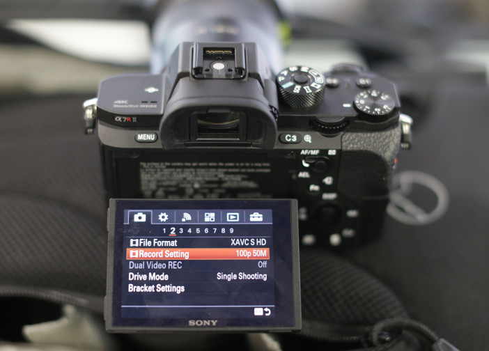 Sony A7R II - movie menu