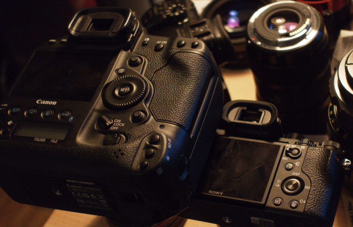 Sony A7R II ergonomics vs Canon 1D C
