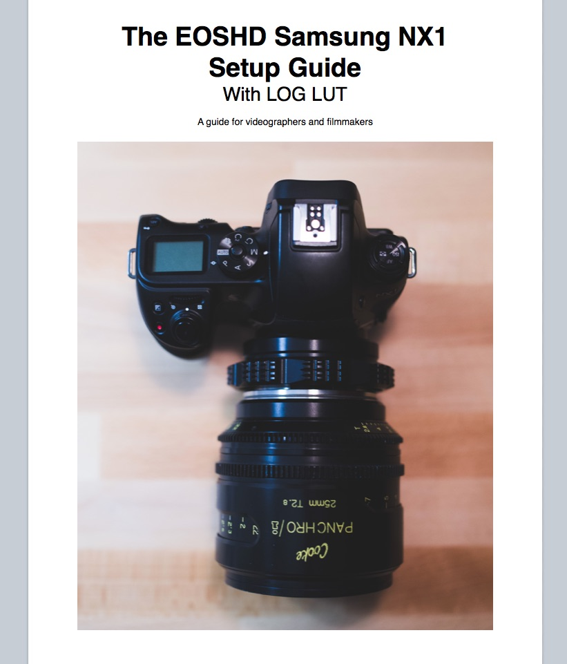NX1 Setup Guide Cover