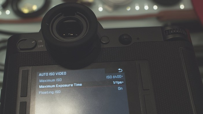 Leica SL auto ISO video mode
