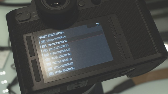 Leica SL video resolutions