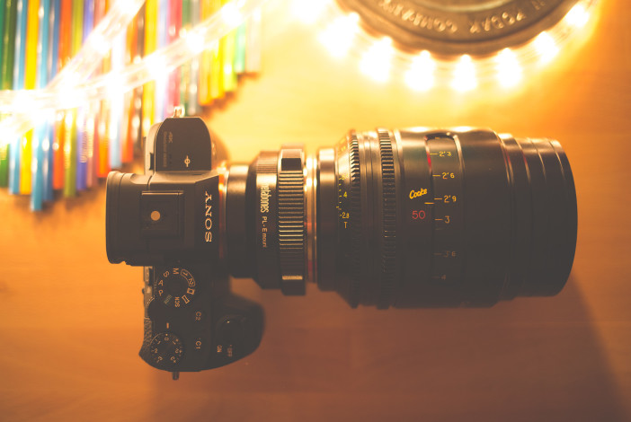 Sony A7R II in Super 35mm mode with Cooke S4i Mini 50mm T2.8 PL lens and Metabones PL adapter