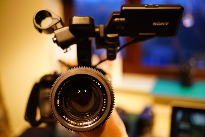 Sony FS5 with EOSHD Ultrarama - front view