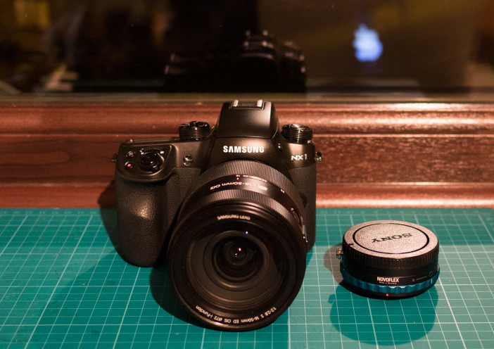 Samsung NX1 with 16-50mm F2.0 and Novoflex Sony A-mount adapter