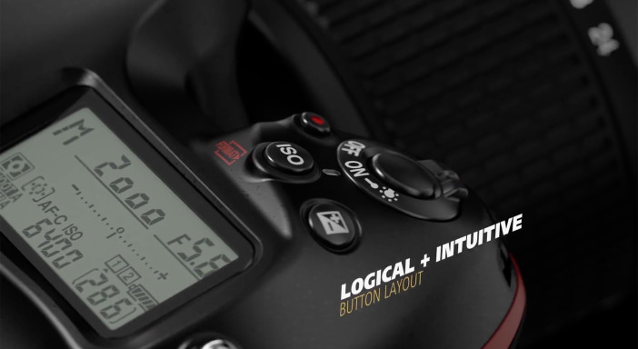 Nikon D5 button layout
