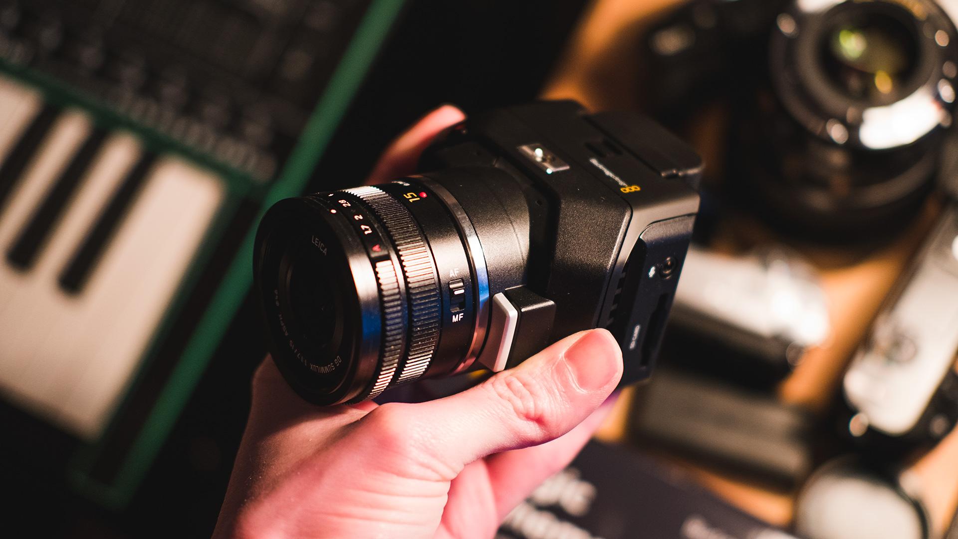Blackmagic Micro Cinema Camera With Panasonic Leica 15mm F17