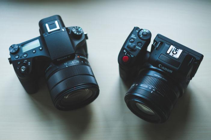 Sony RX10 Mark 3 and Canon Cinema EOS XC10
