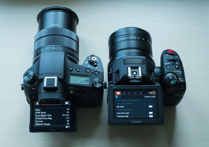 RX10 III vs XC10 menus
