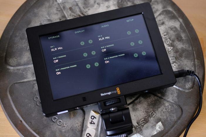 Blackmagic View Assist 4K XLR controls