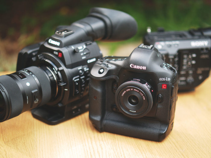 Canon 1D C and C500 size comparison
