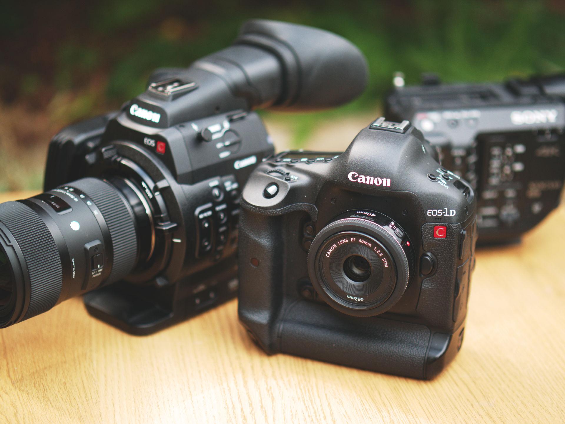 Canon 1D C and C500 size comparison