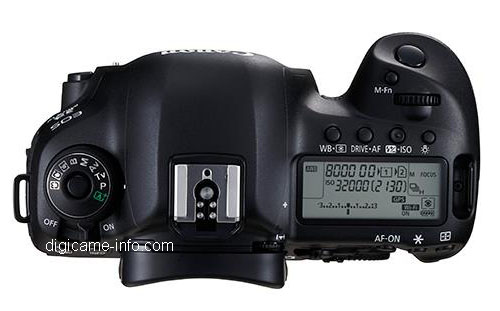 canon 5d mark iv top panel