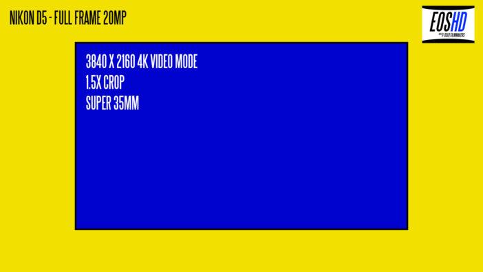 Nikon D5 4K Video Crop