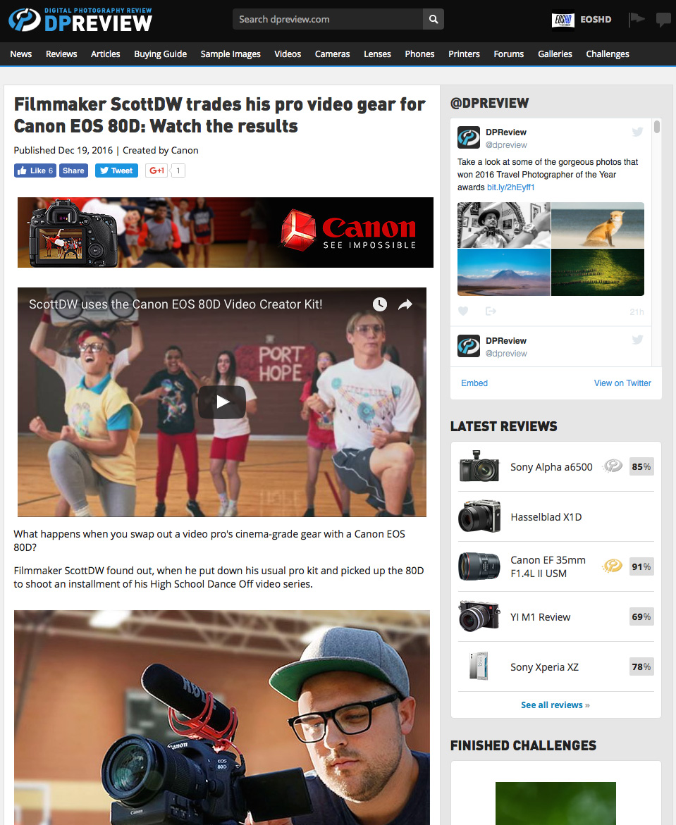 DPReview introduce sponsored content from Canon - truly