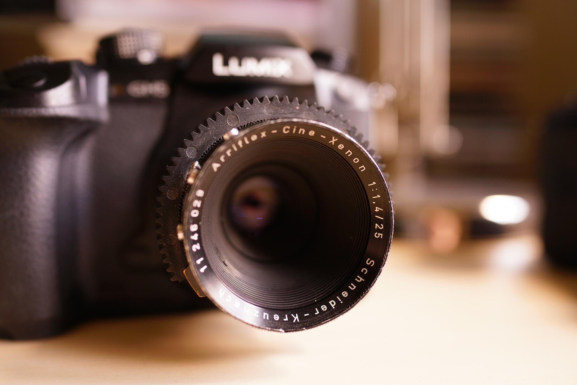 £150 Arriflex lenses on the GH5