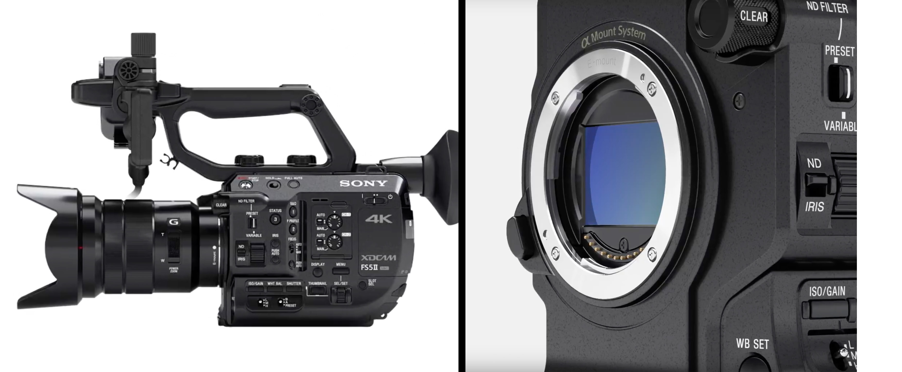 Sony FS5 II announced with 4K 120fps RAW external recording