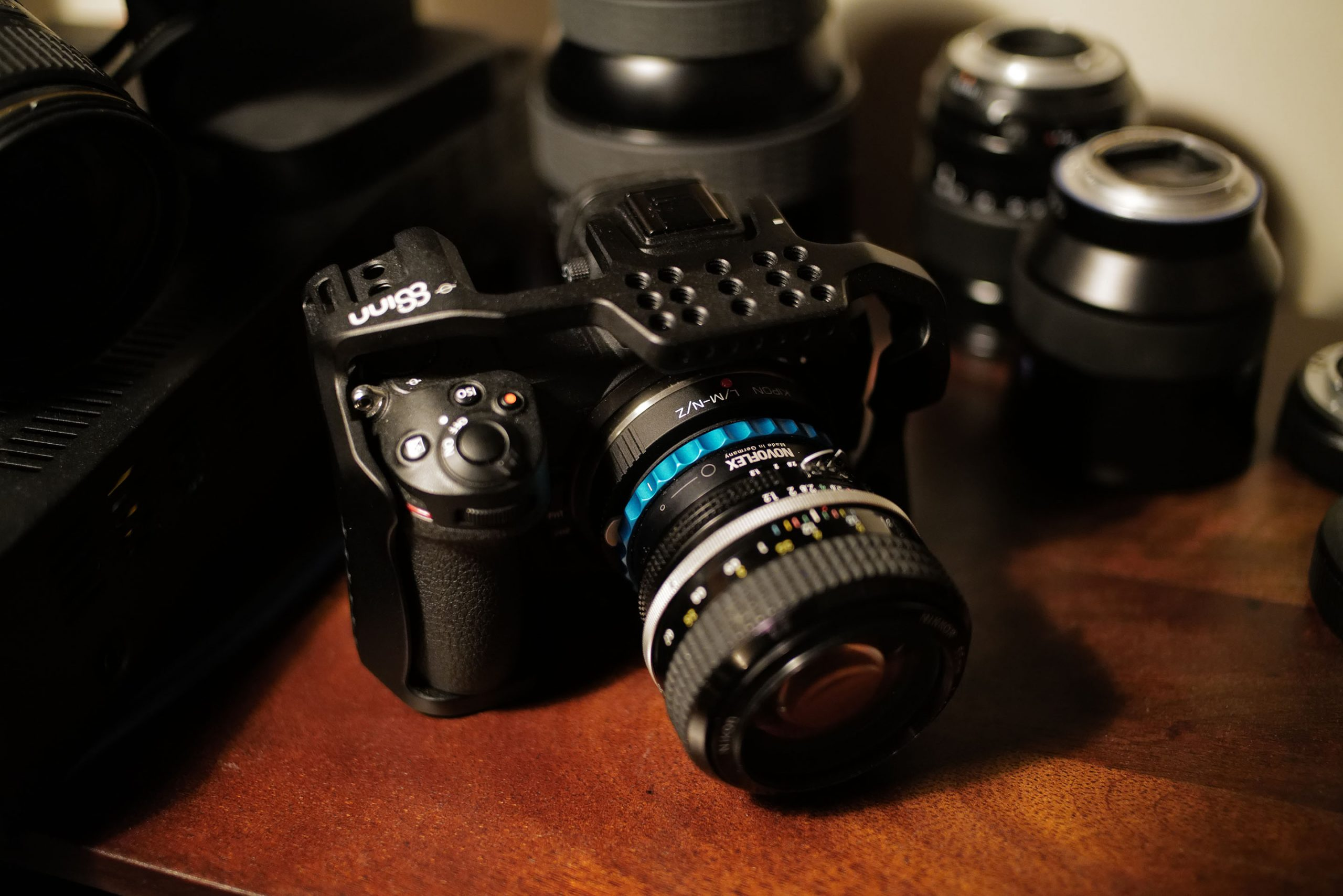 Nikon Z6 with Nikon F 50mm F1.2 and 8Sinn Cage