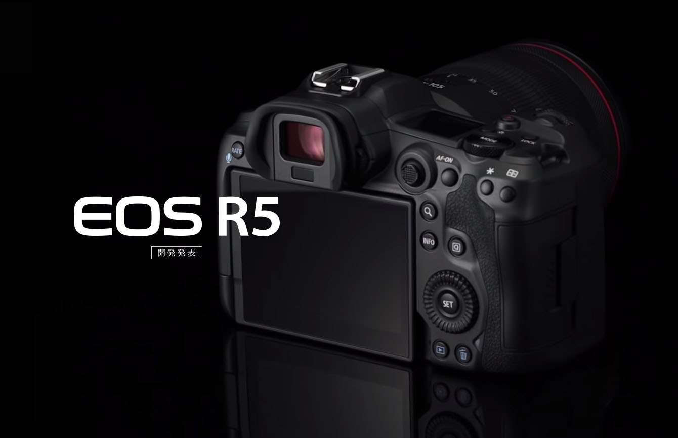 EOS R5 - rear controls layout